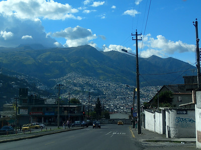 Arriving in Quito, Ecuador's capital, the city sits at 9,350 ft. Making it the highest capital city in the World. It's second in population to Guayaquil, but Quito seemed larger.
