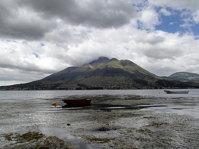 La Laguna de San Pablo at the foot of the Imbabura Volcano