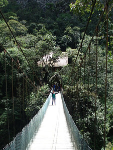 Pailón del Diablo; Ruta de las cascadas, Baños. You'd never know I used to be terrified of bridges.
