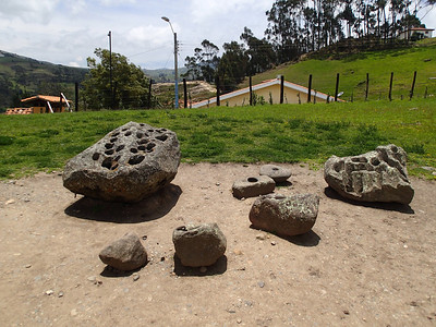 Ingapirca Ruins, the holes in the rocks held water and were used to view the stars.