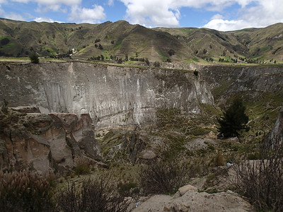 Canon del Rio Toachi formed by pyroclastic volcanic flows.