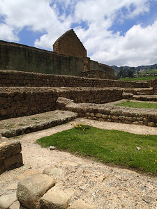 Ingapirca Ruins, Construction was done the Incan way without mortar, instead the rocks were chiseled with precision.