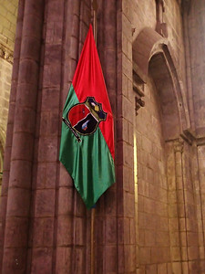 Basílica del Voto Nacional, Quito. Each state had a flag on display with its saint. This is the flag for the Bolivar Province.