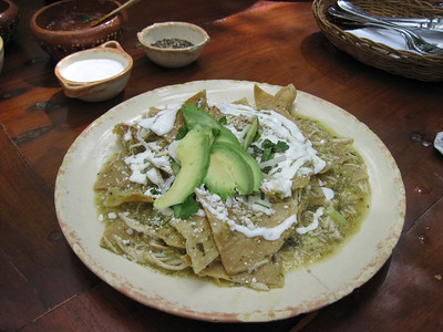 La Cueva del Chango - Chicken Chilaquiles